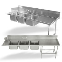 Dishtable with 3 Compartment Sink