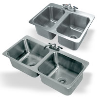 2 Compartment Drop-In Sinks