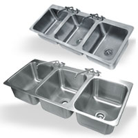 3 Compartment Drop-In Sinks