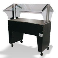 Cold Solid Top Buffet Tables With Open Base