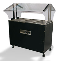 Cold Pan Buffet Tables With Solid Base