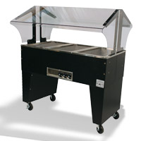 Hot Buffet Tables with Open Base