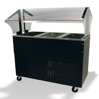 Mechanically Asst. Cold Pan Buffet Tables With Solid Base