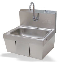 Hands-Free Push Operated Hand Sink