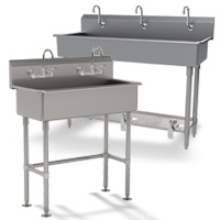 Multi-Station Free Standing Sinks