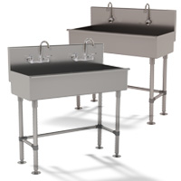 Multi-Station Free Standing Hand Sinks