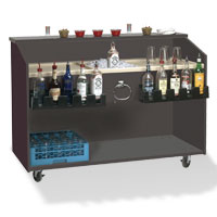 Portable Bar with Molded Work Top