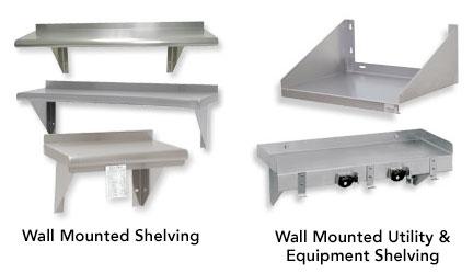 wall mounted shelving