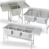 Deep Drawn Compartment NSF Sinks
