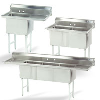 Fabricated Compartment NSF Sinks