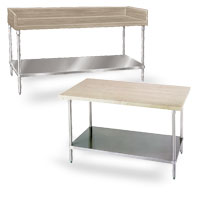 Wood Top Tables with Undershelf