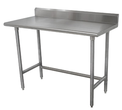 Printer Friendly - Stainless steel table with backsplash and sides