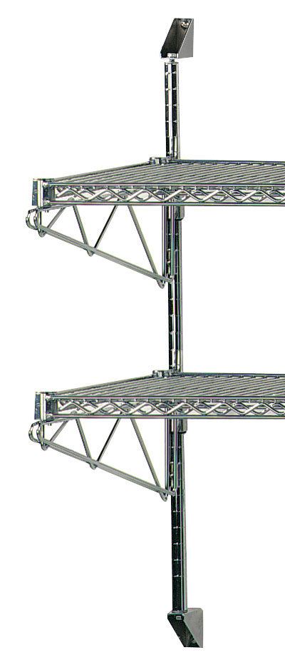 Advance Tabco® - 2 Tier Wire Shelving with Wall Mounted Posts
